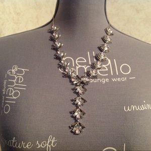 International Concepts Silver Tone Purple Necklace